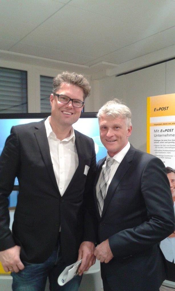 Hans Piechatzek  (MC Ruhr) und Bernd Bohnes (Dt. Post)